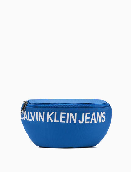 CALVIN KLEIN BOYS LOGO PRINT スリングバッグ