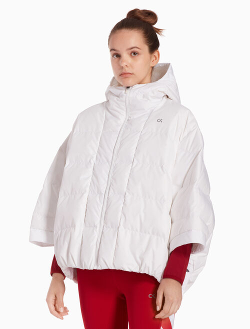CALVIN KLEIN HOODED DOWN PONCHO