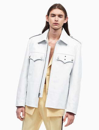 CALVIN KLEIN オーバーサイズ ポリスマン レザージャケット