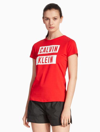 CALVIN KLEIN BOX LOGO SLIM 티셔츠