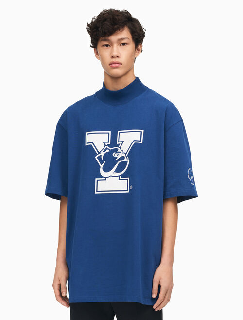 CALVIN KLEIN YALE OVERSIZED MOCK NECK T-SHIRT