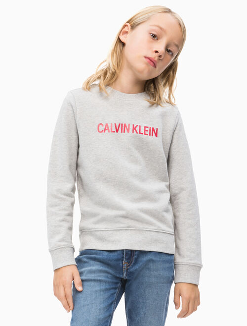 CALVIN KLEIN 男孩款 LOGO 法國棉運動上衣