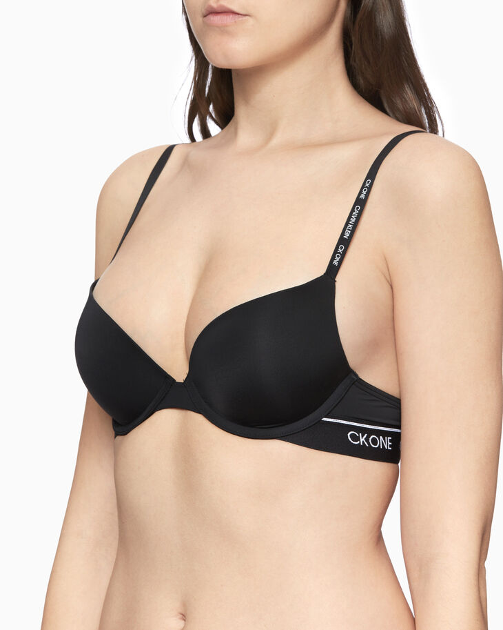 CALVIN KLEIN CK ONE MICRO PUSH UP PLUNGE BRA
