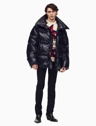 CALVIN KLEIN オーバーサイズ ナイロンパファージャケット