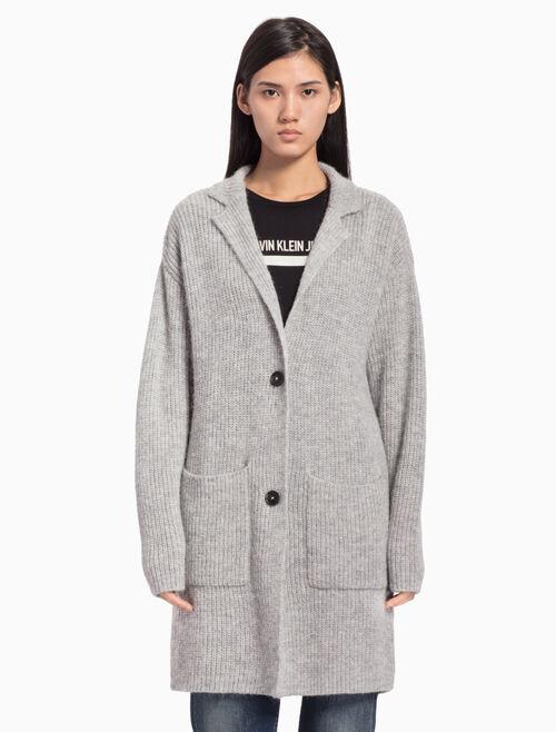 CALVIN KLEIN 羊毛混紡西裝外套