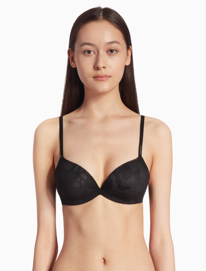 CALVIN KLEIN LACE PUSH UP PLUNGE BRA