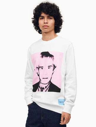 CALVIN KLEIN Warhol Portrait Regular Fit Crewneck Sweatshirt