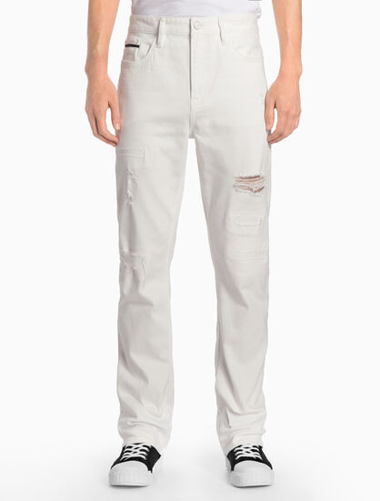 CALVIN KLEIN CKJ 035 MEN STRAIGHT WHITE SELVEDGE JEANS