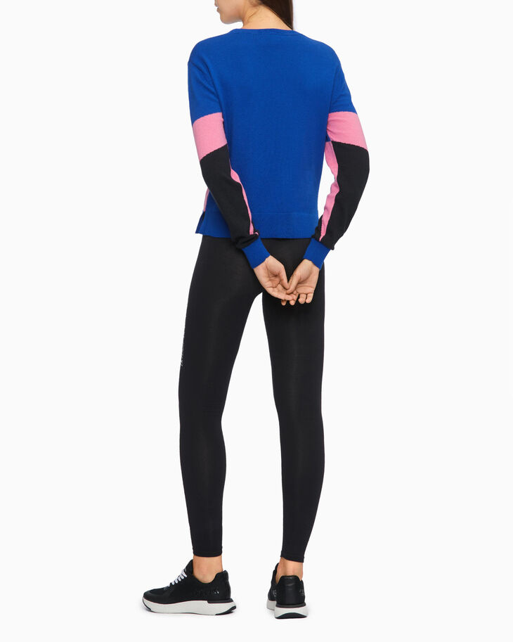 CALVIN KLEIN ORGANIC MOTION COLOR BLOCK SWEATER