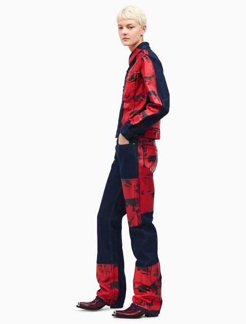 CALVIN KLEIN straight leg high-rise jeans