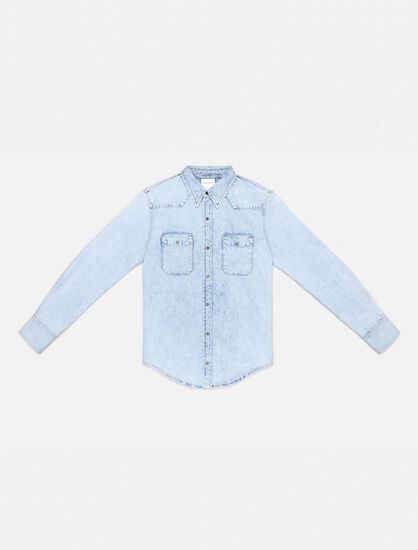 CALVIN KLEIN ACID LIGHT INDIGO WESTERN SHIRT