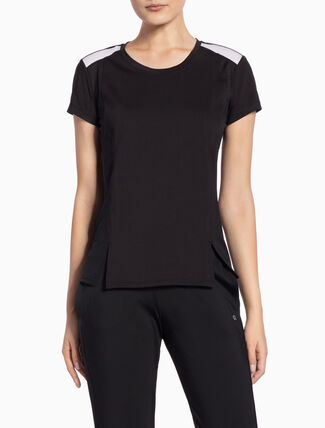 CALVIN KLEIN FABRIC MIX SHORT-SLEEVE TEE