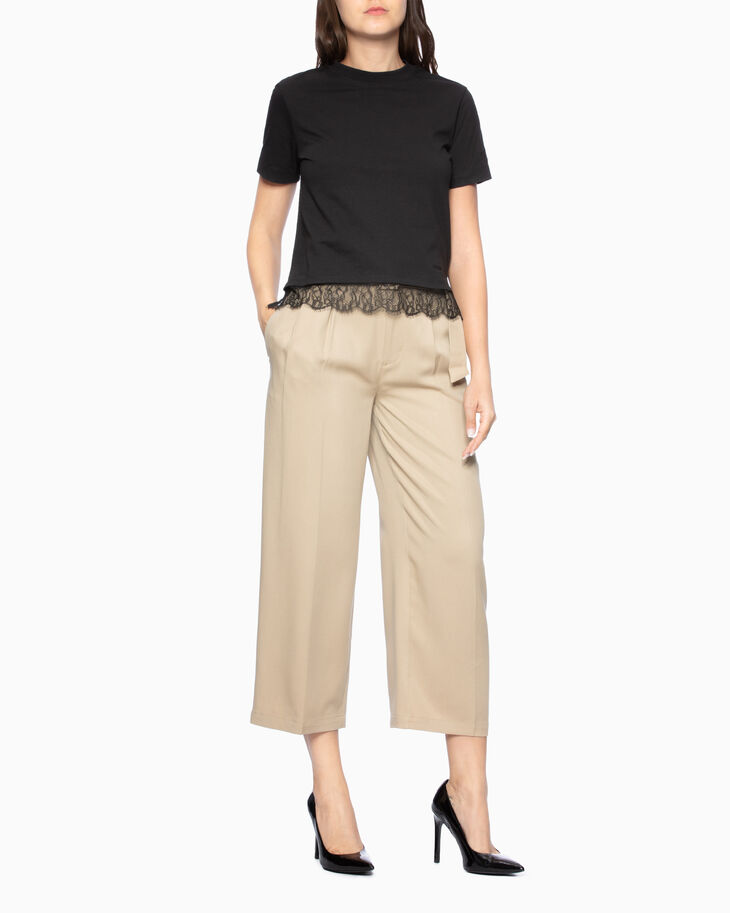 CALVIN KLEIN TENCEL WIDE LEG PANTS