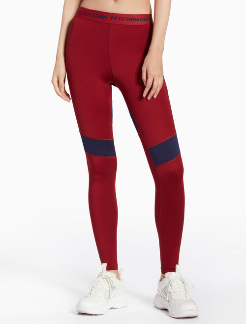 CALVIN KLEIN FULL LENGTH LEGGINGS WITH LOGO WAISTBAND