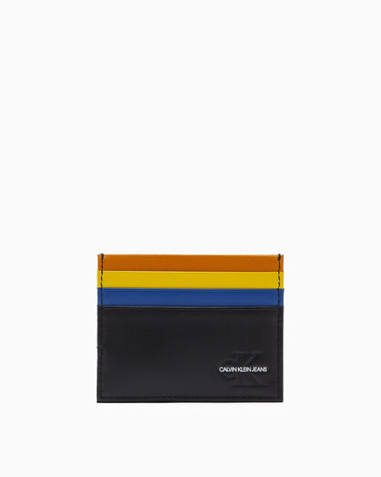 CALVIN KLEIN UNDERCOVER MIXED STRIPE CARD CASE