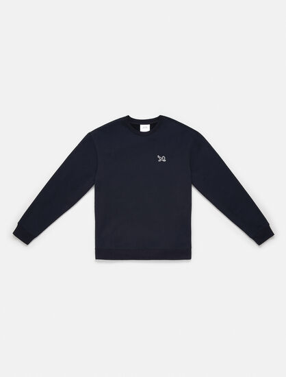 CALVIN KLEIN ICON EMBROIDERED CREWNECK SWEATSHIRT