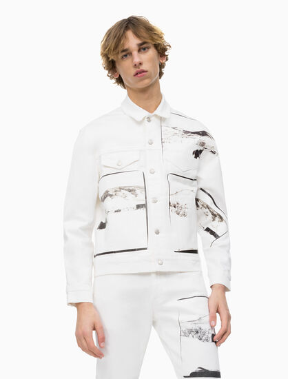 CALVIN KLEIN ANDY WARHOL DENIM TRUCKER JACKET