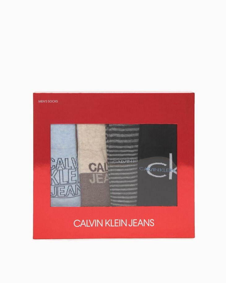 CALVIN KLEIN 4-PAIRS CREW SOCKS