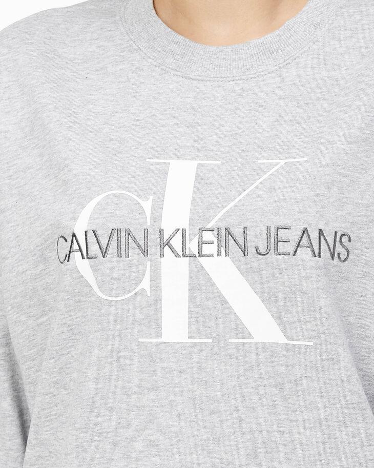 CALVIN KLEIN MONOGRAM CORE CREW NEW SWEATSHIRT