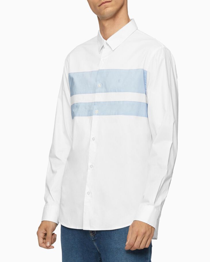 CALVIN KLEIN COLOR BLOCK SLIM SHIRT