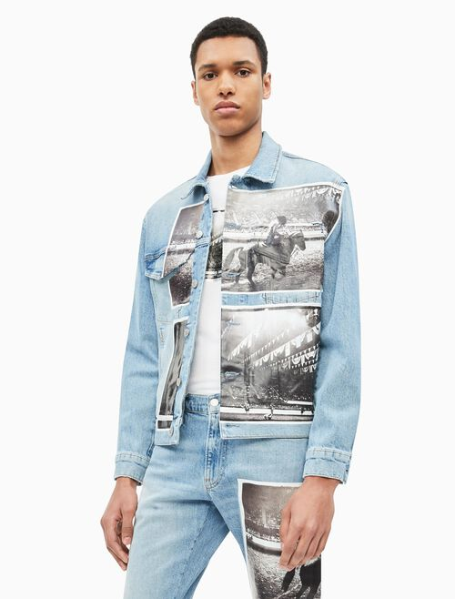 CALVIN KLEIN ANDY WARHOL MEN DENIM TRUCKER JACKET