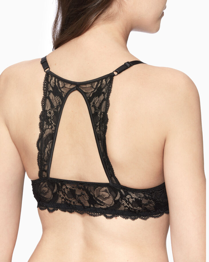 CALVIN KLEIN CK BLACK SPRING ROSE PUSH-UP PLUNGE BRA