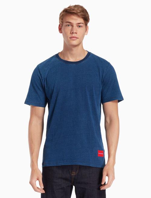 CALVIN KLEIN INDIGO COTTON 티셔츠