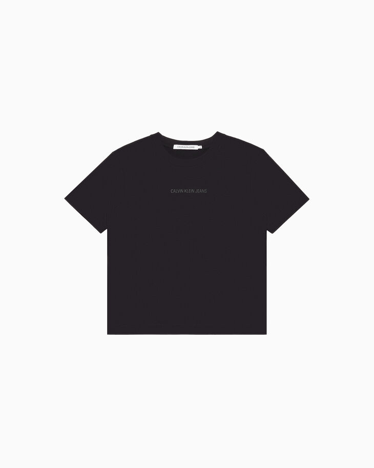 CALVIN KLEIN INSTITUTIONAL LOGO ボクシー T シャツ