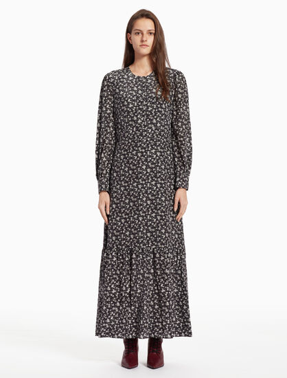 CALVIN KLEIN FLORAL MAXI DRESS