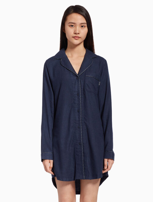 CALVIN KLEIN FLANNEL NIGHT SHIRT