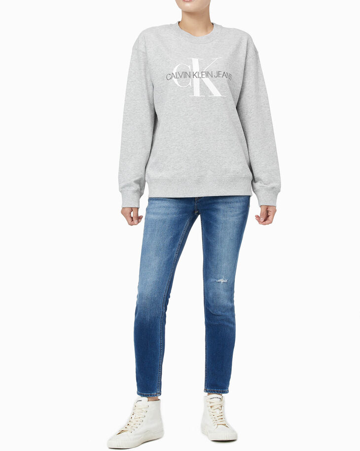 CALVIN KLEIN MONOGRAM CORE CREW NEW SWEATSHIRT