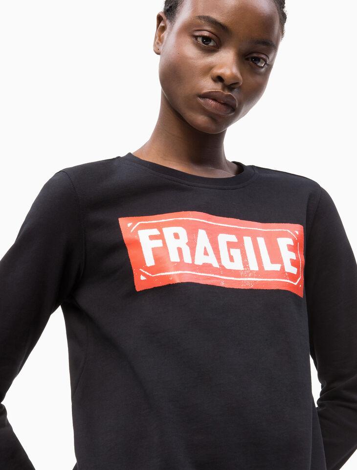 CALVIN KLEIN WARHOL FRAGILE PRINT プルオーバースウェットシャツ
