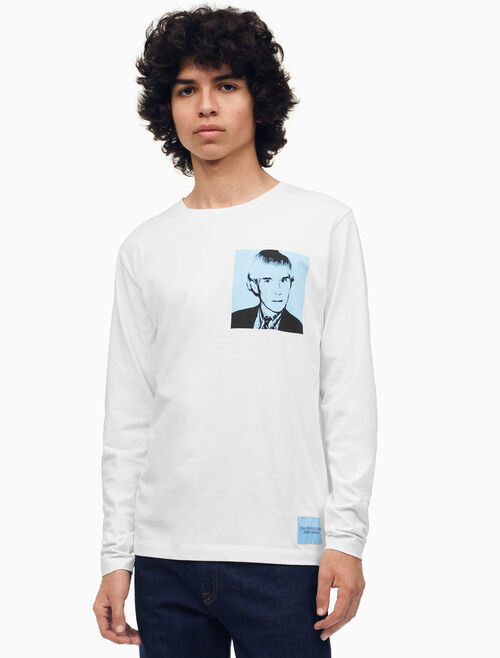 CALVIN KLEIN Warhol Portrait Regular Fit Long Sleeve Shirt