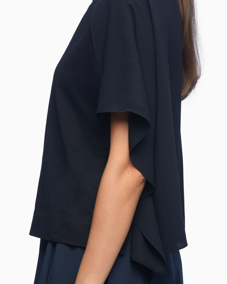 CALVIN KLEIN DOUBLE LAYER DRAPE RELAXED FIT TEE