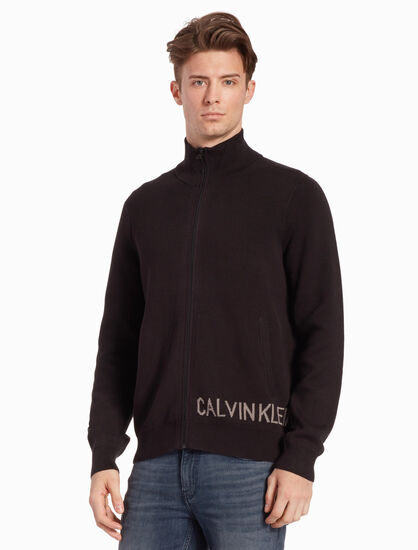 CALVIN KLEIN INSTITUTIONAL ZIP UP SWEATSHIRT