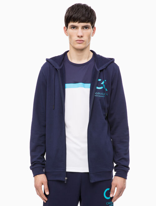 CALVIN KLEIN FRENCH TERRY HOODED SWEAT JAKCET