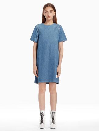 CALVIN KLEIN SHORT SLEEVE BOXY DRESS