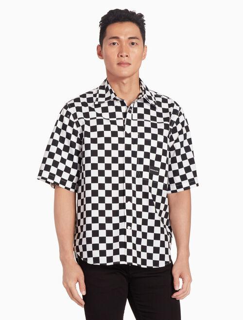 CALVIN KLEIN INSTITUTIONAL CHECKBOARD 襯衫