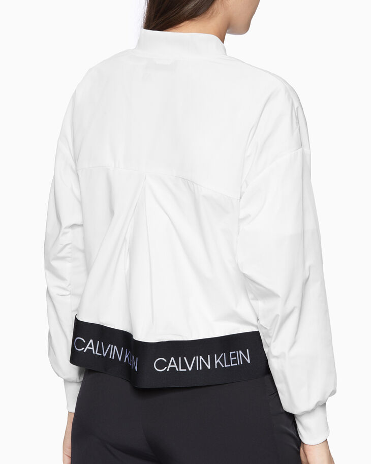 CALVIN KLEIN ACTIVE ICON PLEAT BOMBER JACKET