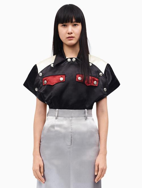 CALVIN KLEIN diner uniform round shirt