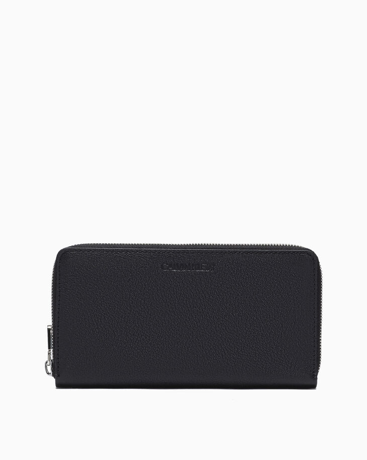 CALVIN KLEIN MICRO PEBBLE LONG ZIP AROUND WALLET