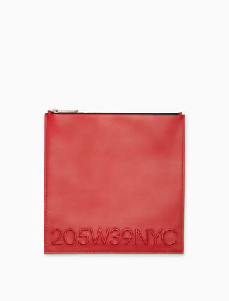 CALVIN KLEIN calf leather pouch
