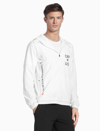 CALVIN KLEIN ASTRONAUT HOODED WINDBREAKER