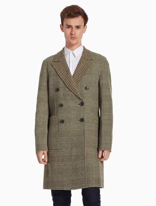 CALVIN KLEIN 雙排扣羊毛大衣