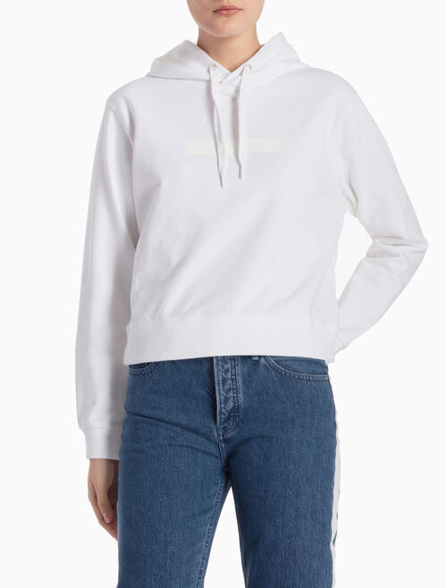 CALVIN KLEIN LOGO SWEATSHIRT WITH HOOD