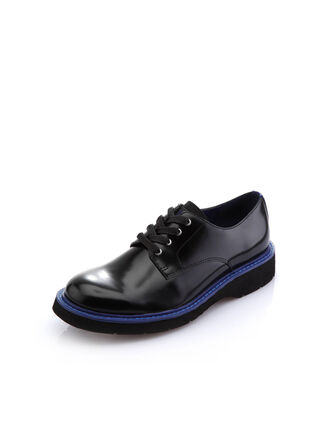 CALVIN KLEIN TWO-TONE LEATHER LACE-UP SHOES