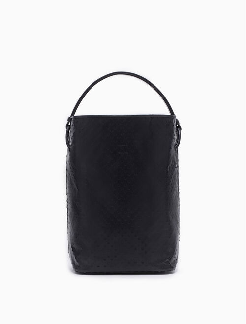 CALVIN KLEIN CINCHED PERFORATED BUCKET BAG