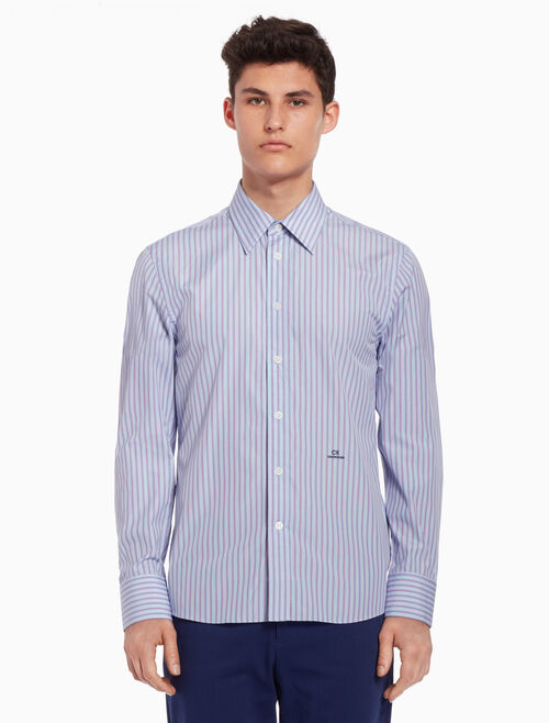 CALVIN KLEIN Striped shirt with logo