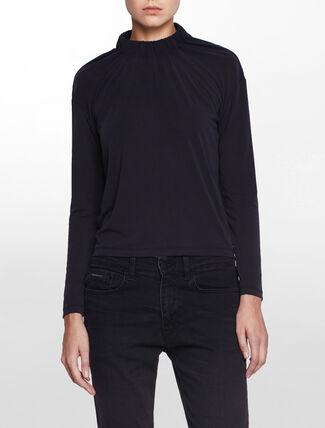 CALVIN KLEIN Calvin Klein バンドチョーカー V ネックロゴ T シャツ