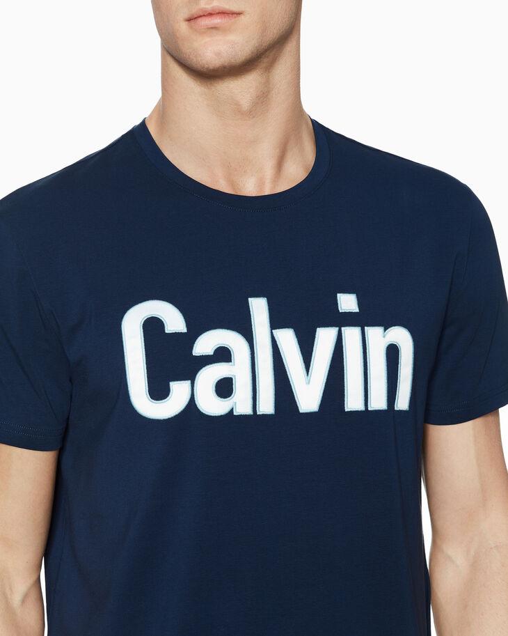 CALVIN KLEIN SATIN LOGO BOX TEE